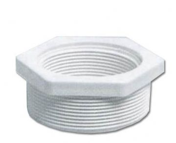 "White ABS White Threaded Reducer 2"" to 1.5"